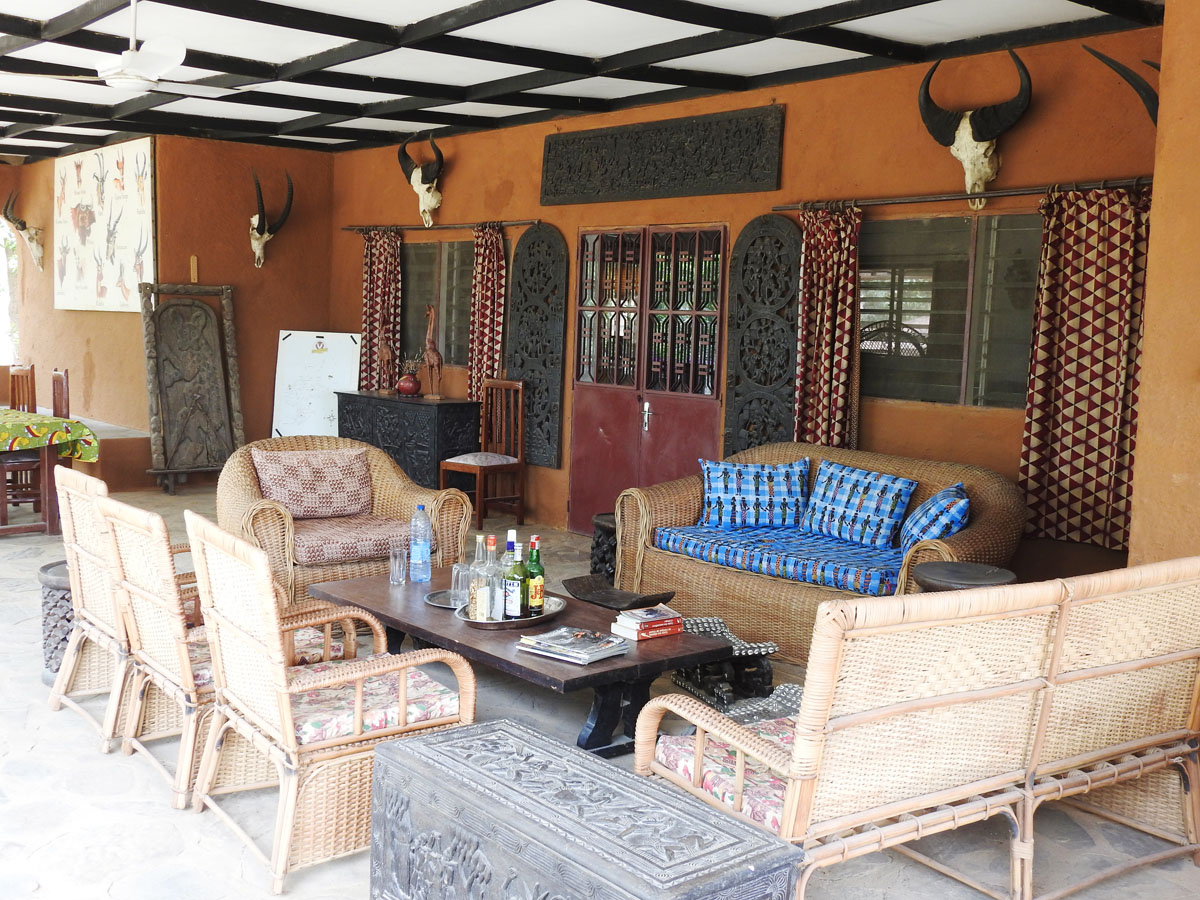 Hunting camp in the savannah concession in Cameroon