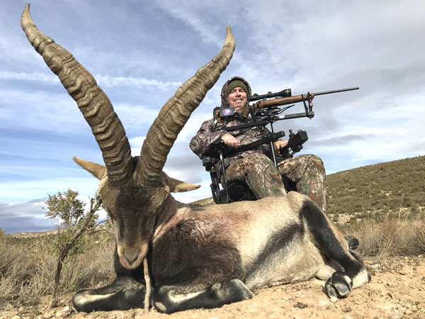 Man in a wheelchair hunted a beautiful Beceite Ibex trophy in Spain