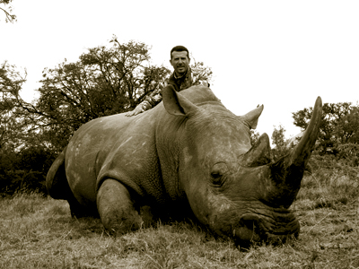 Rhino hunt in South Africa