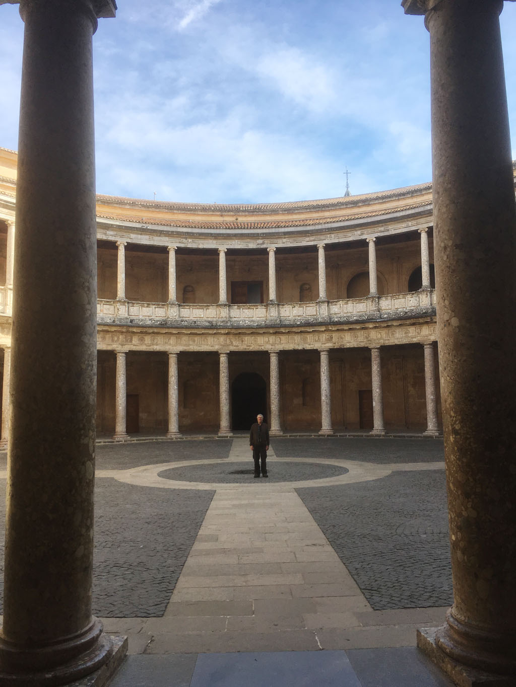 Roger Hooten visiting the Alhambra Palace in Granada